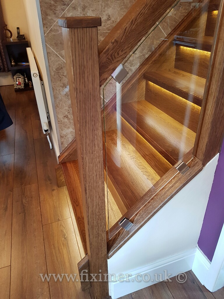 Staircase Renovation After Completion Lights On In Doncaster