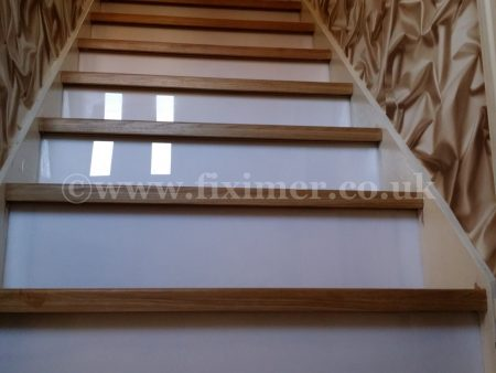 Oak Steps Cladding with Led Lights