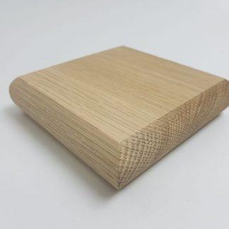 Flat Newel Cap Solid Oak - Unfinished