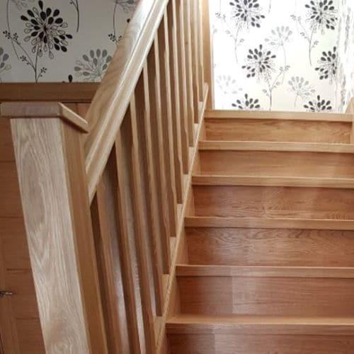 Handrail 4.2 m Oak - Ungrooved 58x58x4200 mm