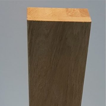 Half Newel Post Oak Plain Square 45 x 90 x 1500mm