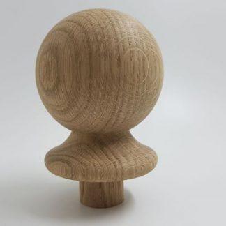 Ball Newel Cap Solid Oak 90mm