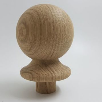 Ball Newel Cap Solid Oak 90mm