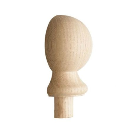 Half Ball Newel Cap Oak