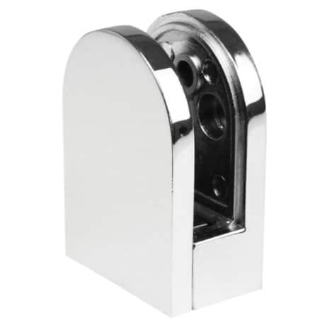 Chrome Glass Clamp Rounded