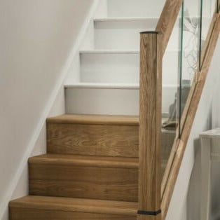 Oak Staircase Steps Cladding Treads and Risers Set of 13