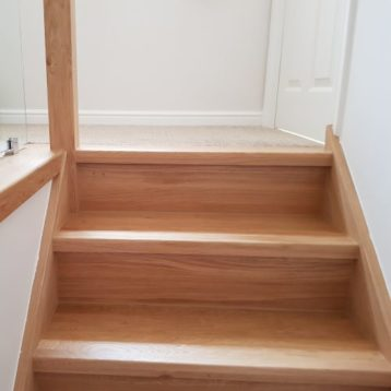 Oak Veneered Staircase Risers Set of 13 Straight Untreated Risers