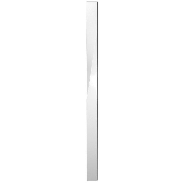White Primed Twisted Newel Post