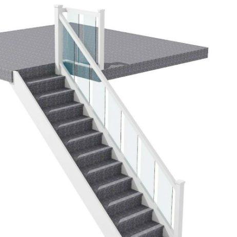 Full Glass Staircase Banister Set