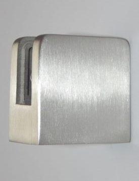 Brushed Nickel Glass Bracket